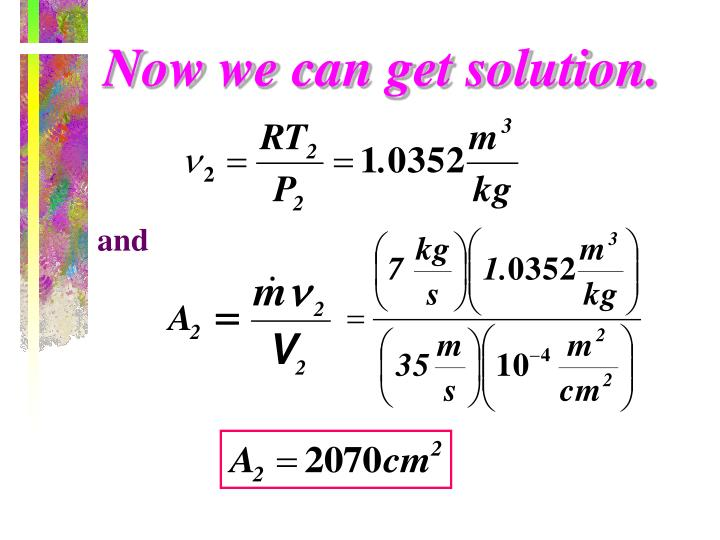 Now we can get solution.