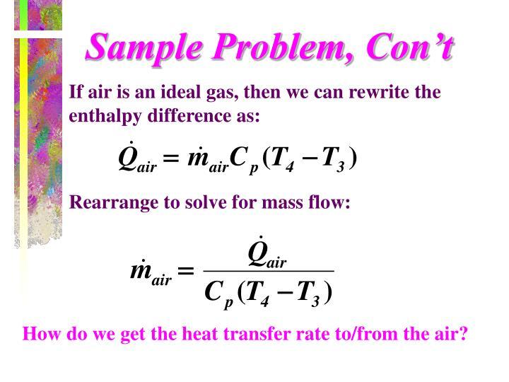 Sample Problem, Con't