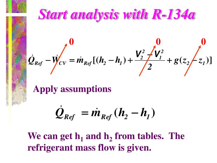Start analysis with R-134a