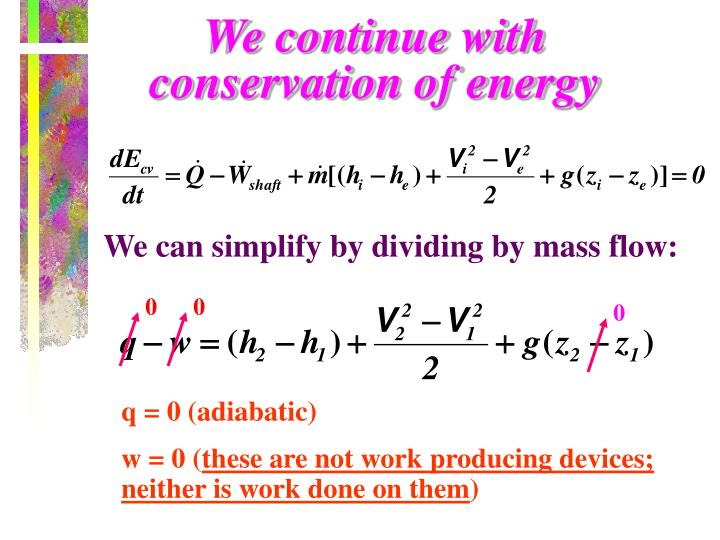 We continue with conservation of energy