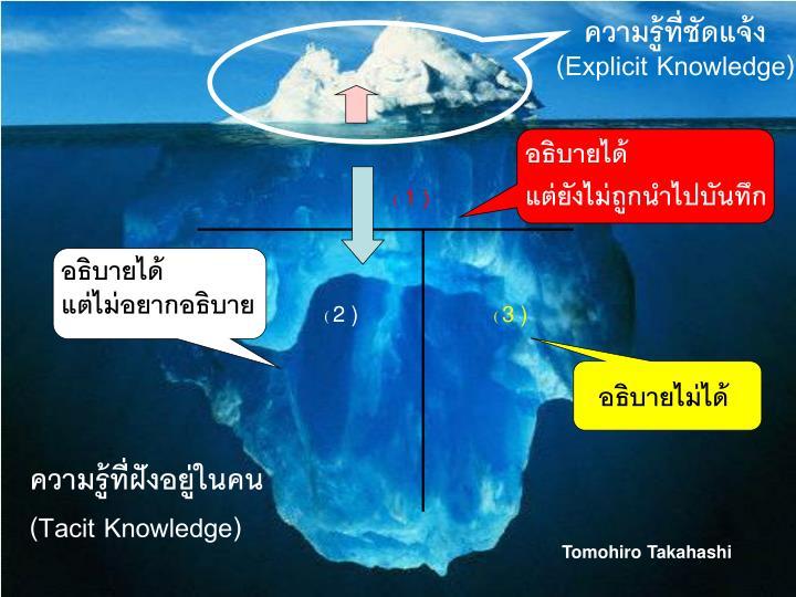 ความรู้ที่ชัดแจ้ง