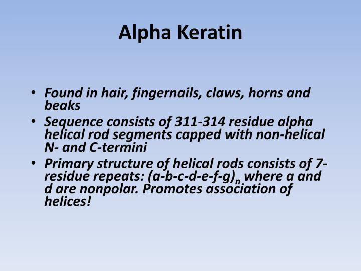 Alpha Keratin