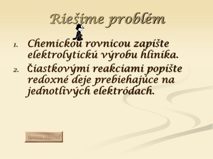 Riešime problém