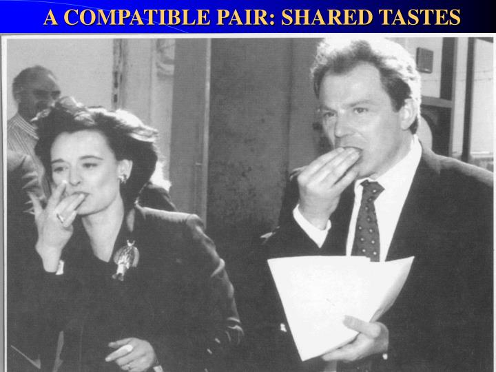 A COMPATIBLE PAIR: SHARED TASTES