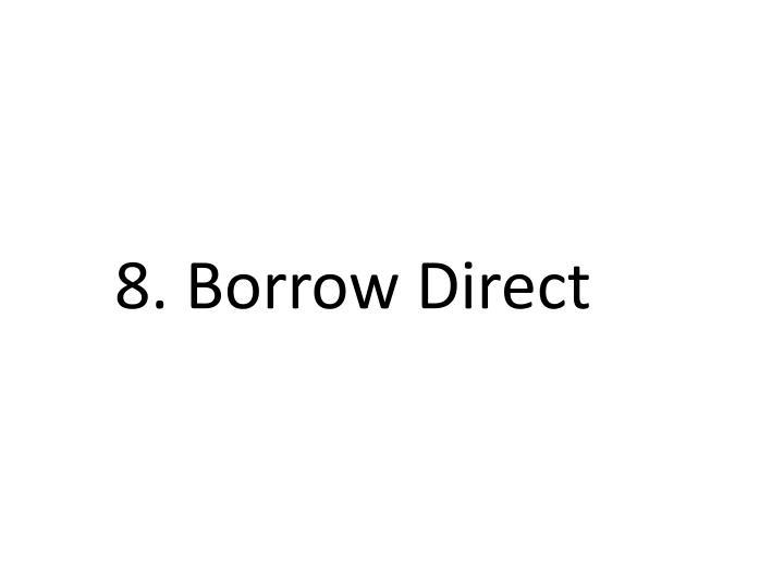 8. Borrow Direct