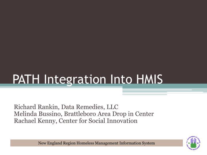 PATH Integration Into HMIS