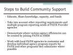 steps to build community support