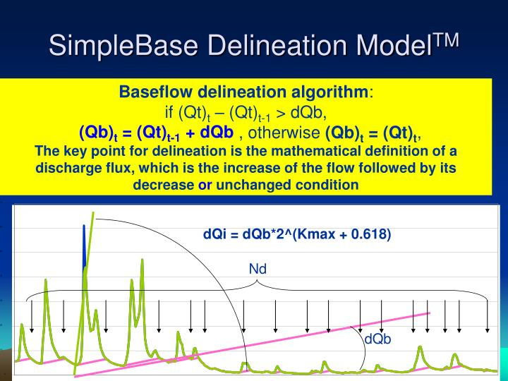 Baseflow delineation algorithm