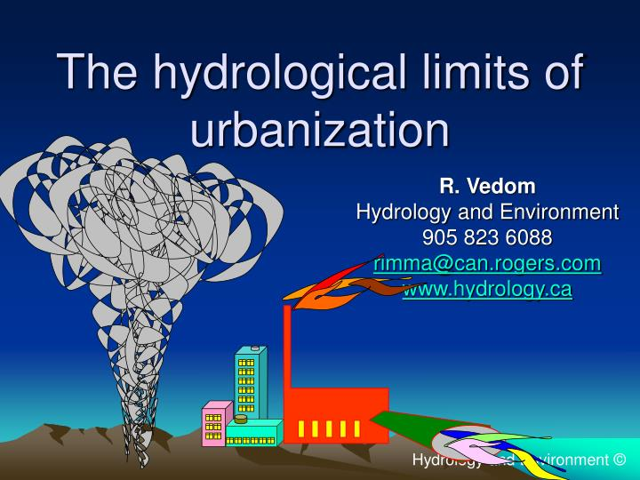 The hydrological limits of urbanization