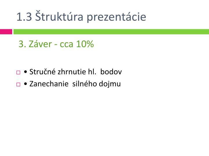 1.3 Štruktúra prezentácie