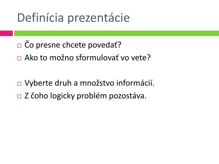 Definícia prezentácie