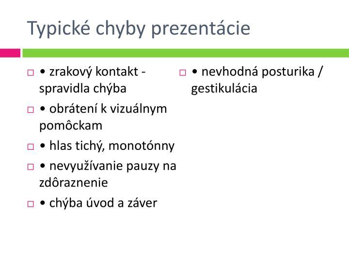Typické chyby prezentácie