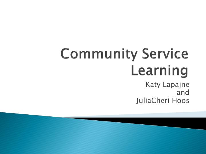 Community Service Learning