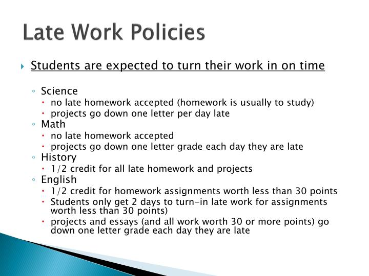 Late Work Policies