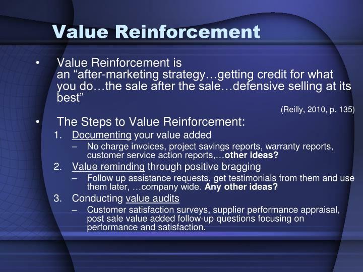 Value Reinforcement