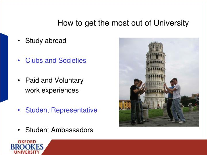 How to get the most out of University