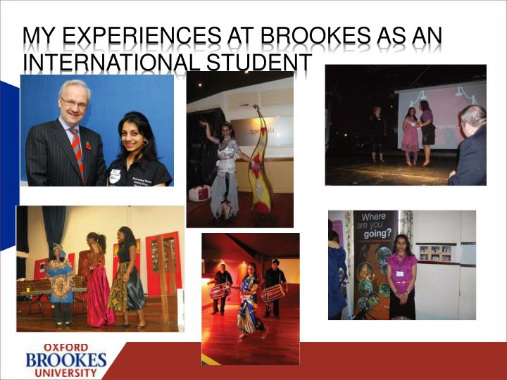 My experiences at Brookes as an international student