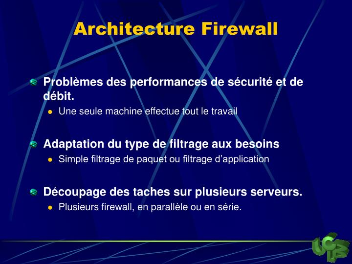 Architecture Firewall