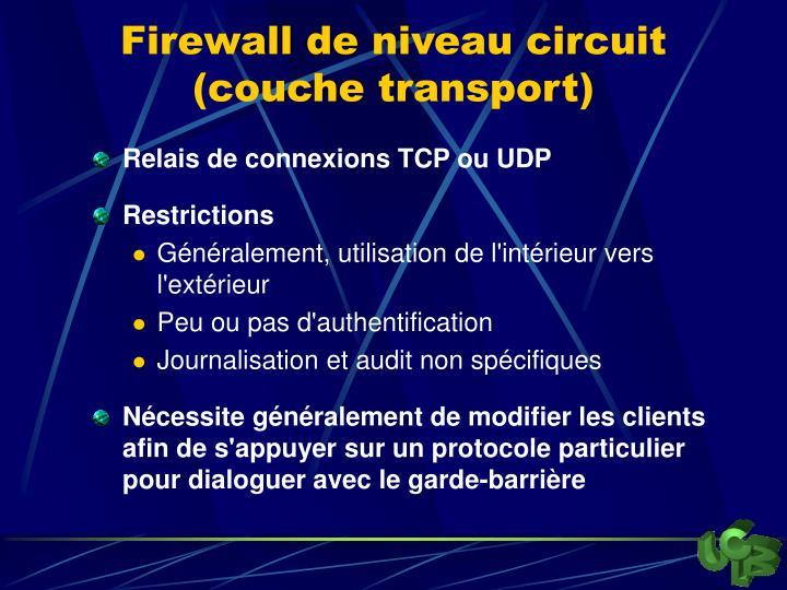 Firewall de niveau circuit