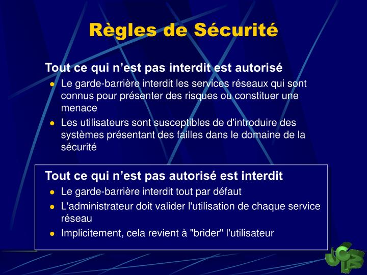 Règles de Sécurité