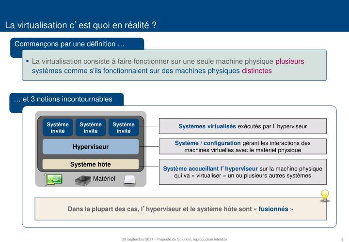 La virtualisation c