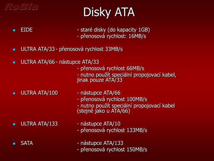 Disky ATA