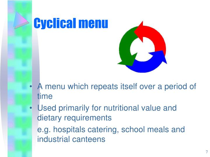 Cyclical menu