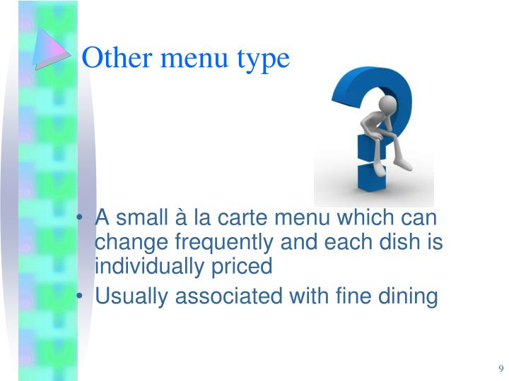 Other menu type