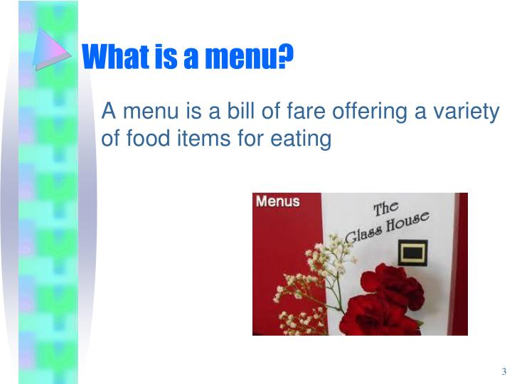 What is a menu?