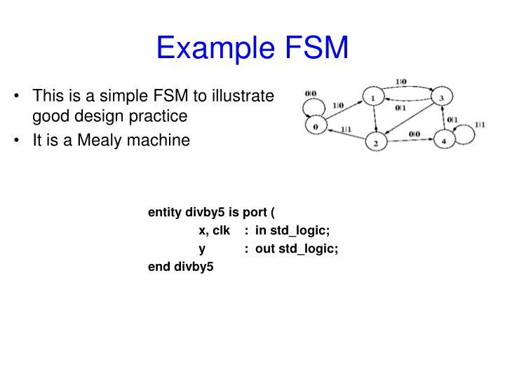 Example FSM