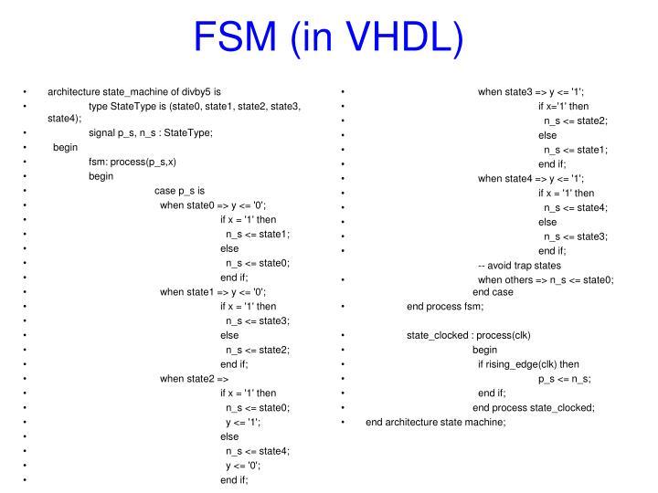 FSM (in VHDL)