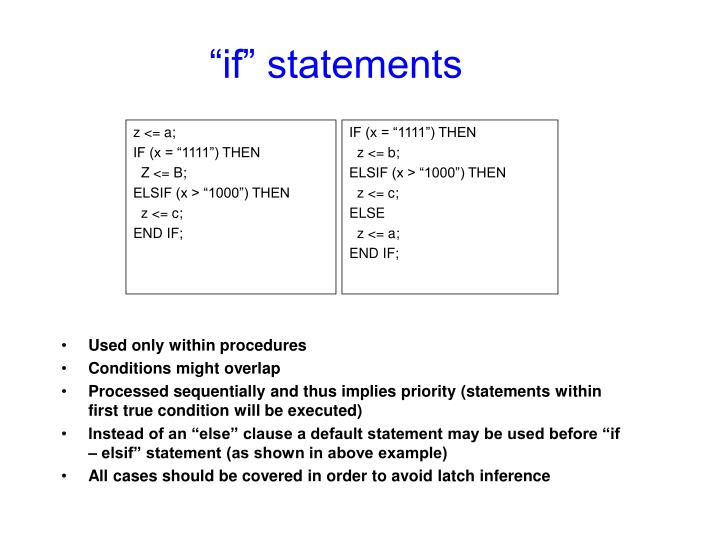 """if"" statements"