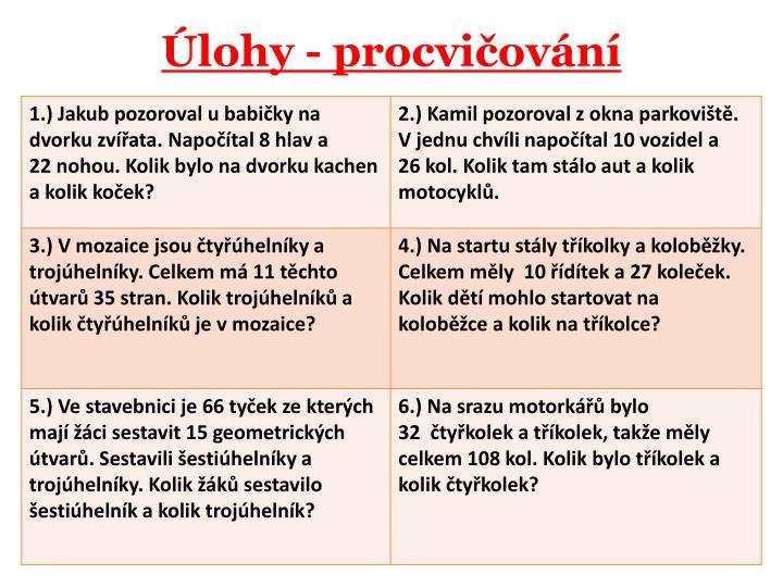 lohy - procviovn