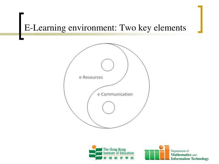 environmental elements education To grasp the essence of montessori education, just step inside a  and child-sized kitchen tools—elements that allow independence and help develop small.