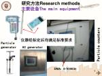 research methods the main equipment
