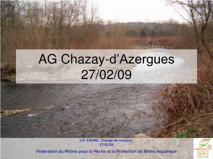 AG Chazay-d'Azergues