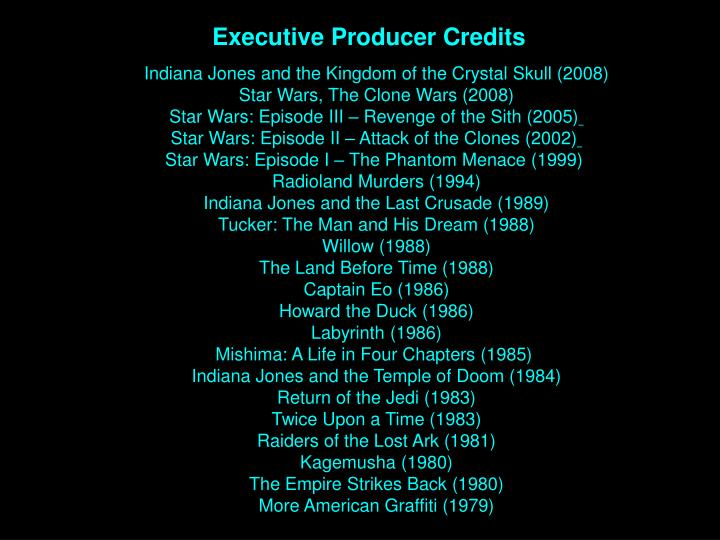 Executive Producer Credits