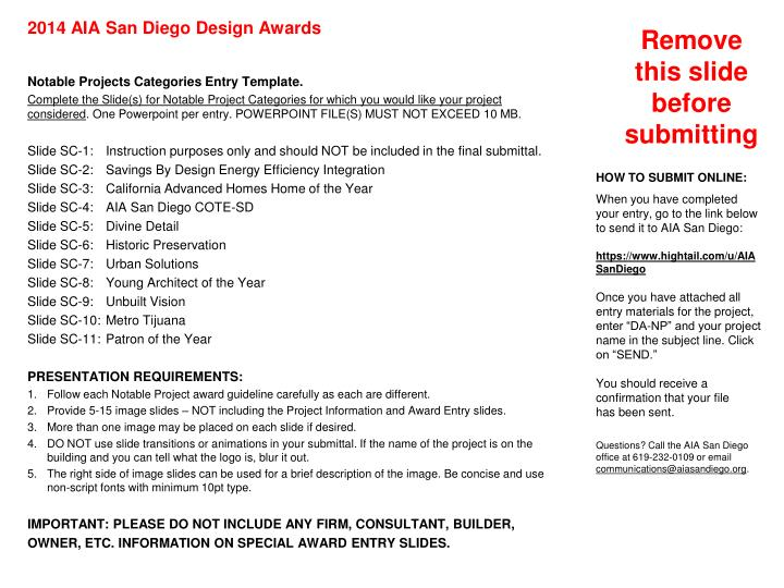 slide sc 1 2014 aia san diego design awards special categories instructions