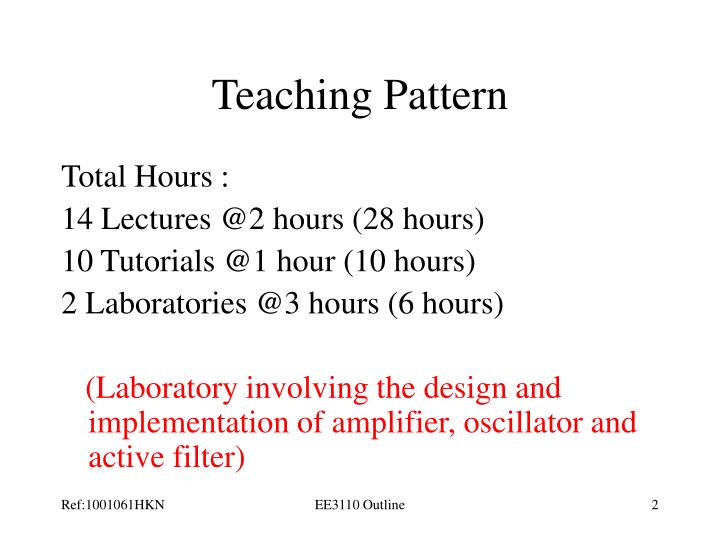 Teaching Pattern