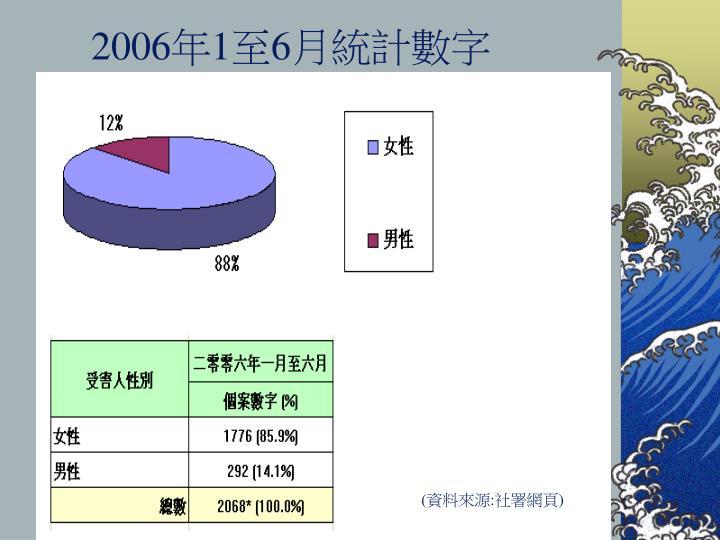 2006年1至6月統計數字