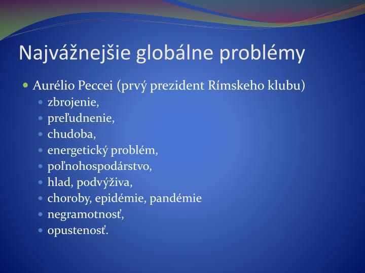 Najvážnejšie globálne problémy