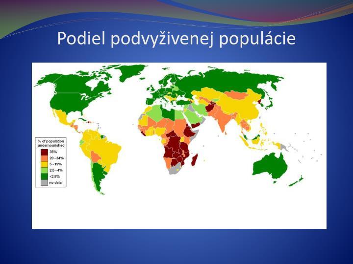 Podiel podvyživenej populácie