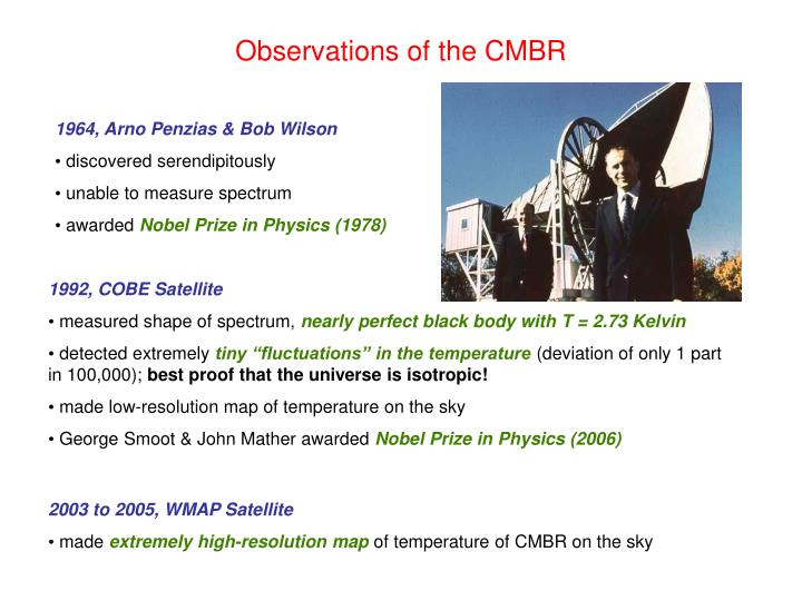 Observations of the CMBR