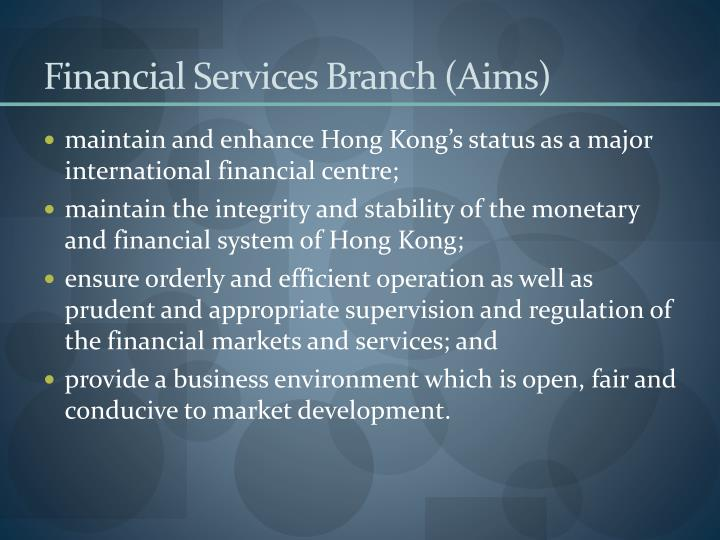 Financial Services Branch (Aims)