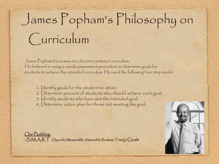 James Popham's Philosophy on Curriculum