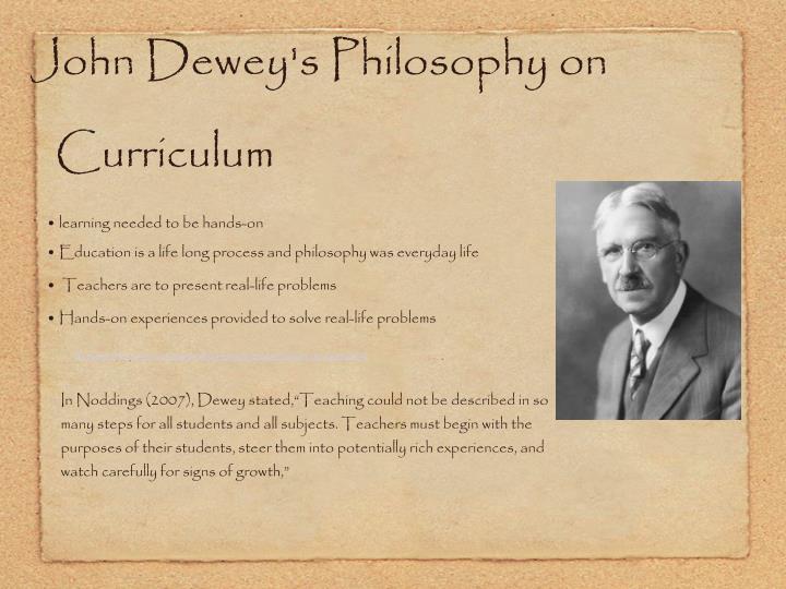 John Dewey's Philosophy on Curriculum