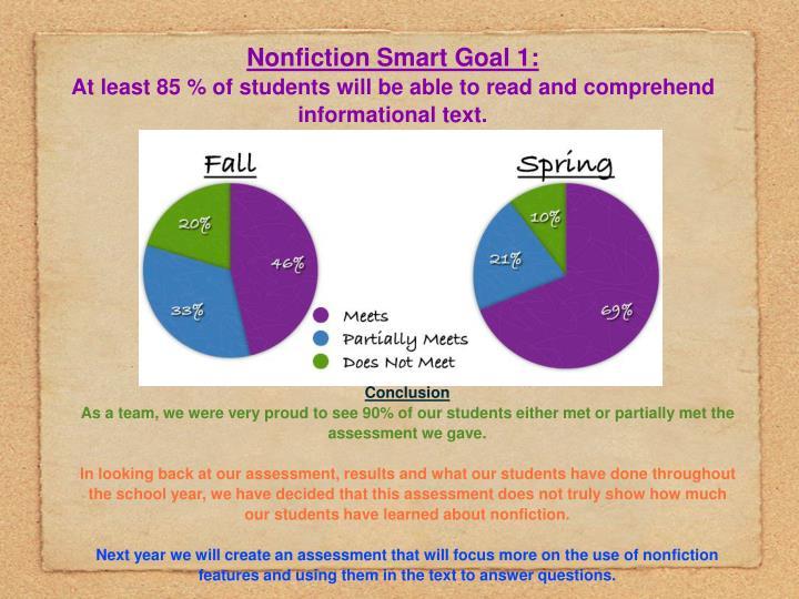 Nonfiction Smart Goal 1:
