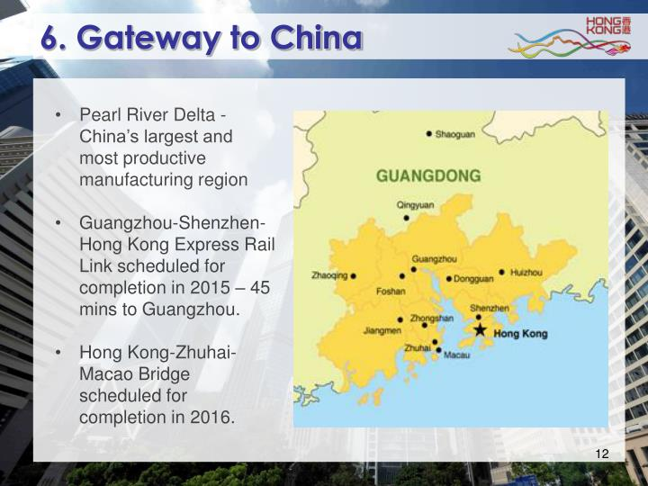 6. Gateway to China