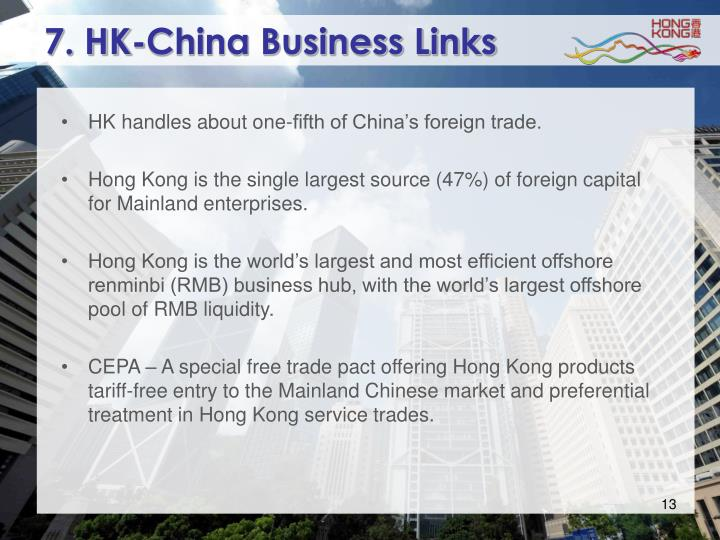 7. HK-China Business Links