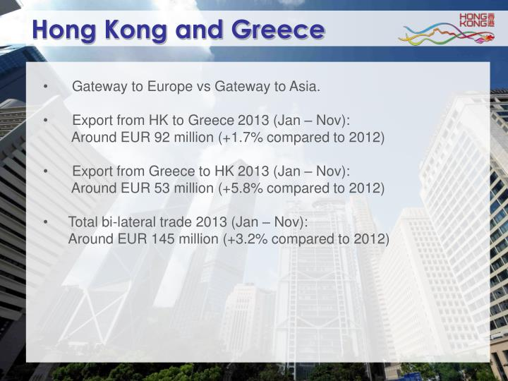 Hong Kong and Greece